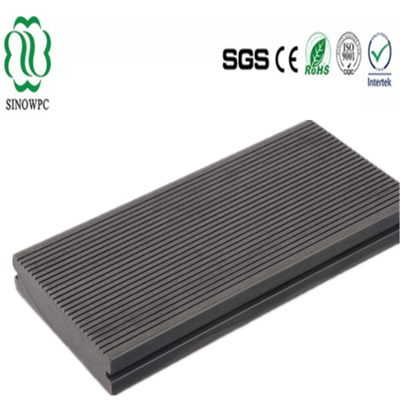 Wood plastic composite floor decking plate