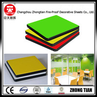 office interior wall cladding panels formica laminate Decorative High Pressure compact board