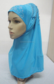 H310 latest instant hijab with lace and rhinestones,muslim scarf