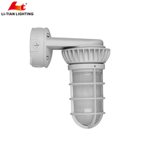 Industrial Lighting LED Vapor Tight Fixture, Damp Location, 120-277V, Aluminum Housing, Wall Mount Vandal Proof Vapor Light