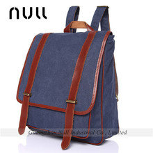 deep blue leisure design schoolbag canvas backpack