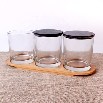 Factory price wholesale glass candle jar glass candle holders