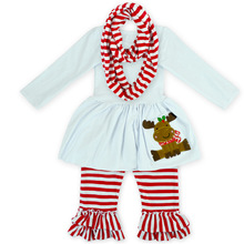 Wholesale Boutique Children Fall Cotton Newest Baby Halloween Outfits Low Moq Girl Ruffle Sets