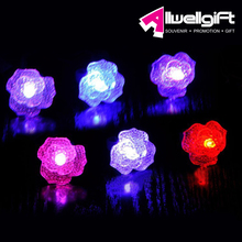 Concert Party Supplies Colors Changing Flower Heart Shape LED Light Ring for night activities