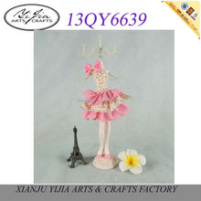 factory sales resin pink sweet fairy jewelry holder figurines decoration doll