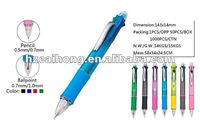 Interesting plastic 4 color ball pen with one mechanical pencil CH-6567