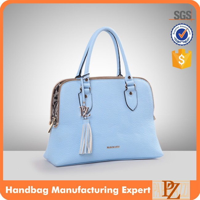 4474 Paparazzi Leather brand zipper bag design high quality big lichi grain leather beautiful bag lady