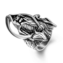Retro Punk Wind Personality Domineering Penis Stainless Steel Ring