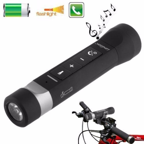 flashlight music portable wireless portable speaker with power bank
