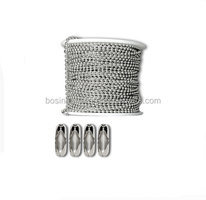 Papular High Quality Metal 2mm Ball Chain Stainless Steel Spool