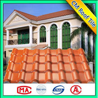 Environment Friendly Light Weight Spanish Asa Plastic Pvc Roof Tile