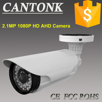 Hot Economic 2.1MP 1080P 2.8-12mm Manual Zoom Lens IR 40M DWDR OSD IP66 Bullet HD AHD Camera