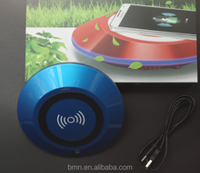 BMN909-3 Blue high-tech car air cleaner car air ionizer vehicle air purifier with wireless charging function