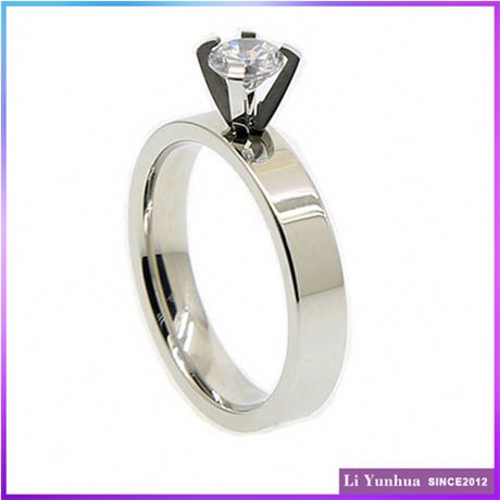 Affordable Price Professional Design Customized Logo Rings Jewellery With One Stone
