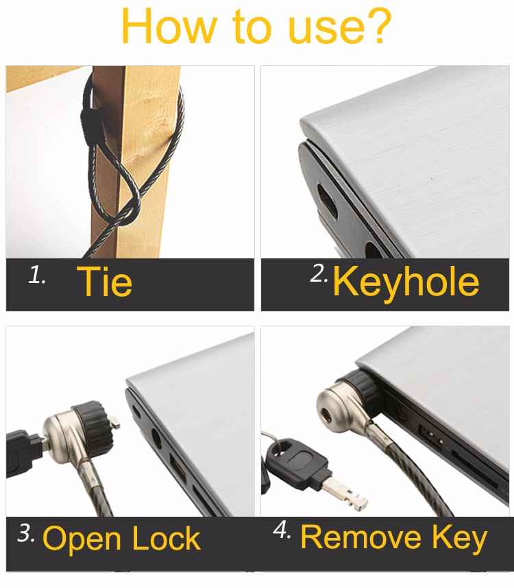 Notebook Laptop Netbook Security Key Lock