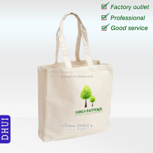 Hot selling cheap custom logo printed cotton tote foldable shopping bags