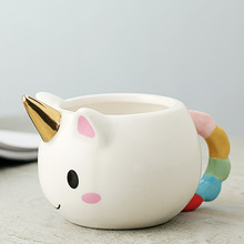 ceramic milk tea cup porcelain children mug stoneware milk 3D mug for kids