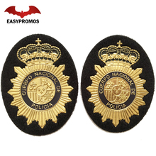 Security Cap Badges Custom National Golden Soft PVC Metal Badge