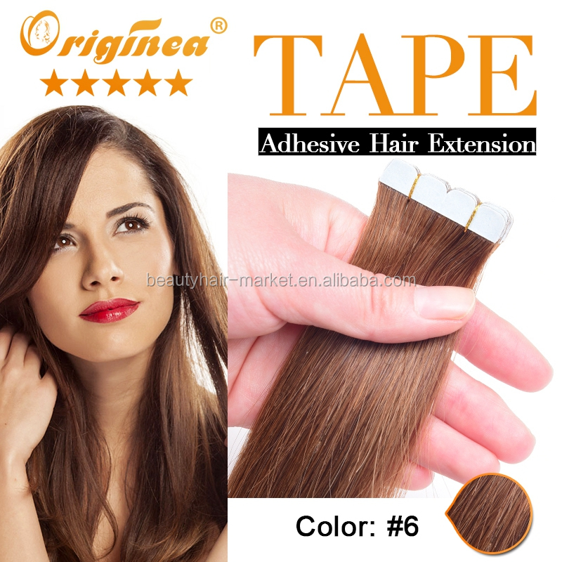 Hot Selling Pre Tape Brazilian Hair Extensions Invisible Highlight