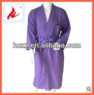 New Fashion Waffle Bath Robe of 100% Cotton