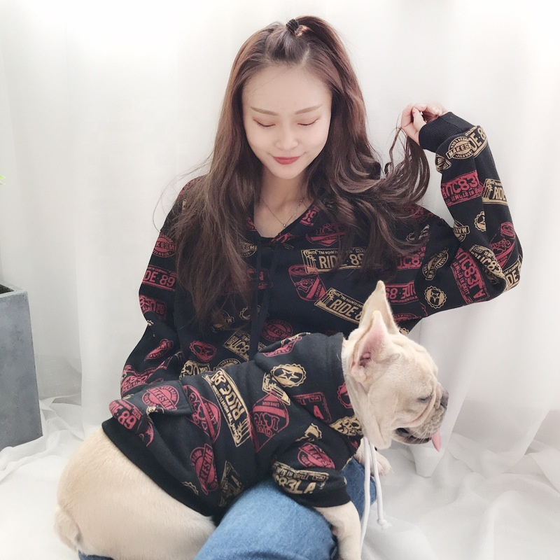 New Design Cotton Hoodies Clothes Winter Warm Matching <strong>Dog</strong> And Owner Clothes