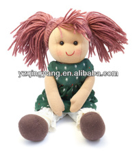 2014 new arrival stuffed soft plush toy cute and pretty girl dolls for children