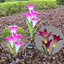 Wholesale solar garden light modern design 800mm outdoor flower floor lamp