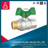 brass ball valve teflon gasket npt female thread male brass one way ball valve