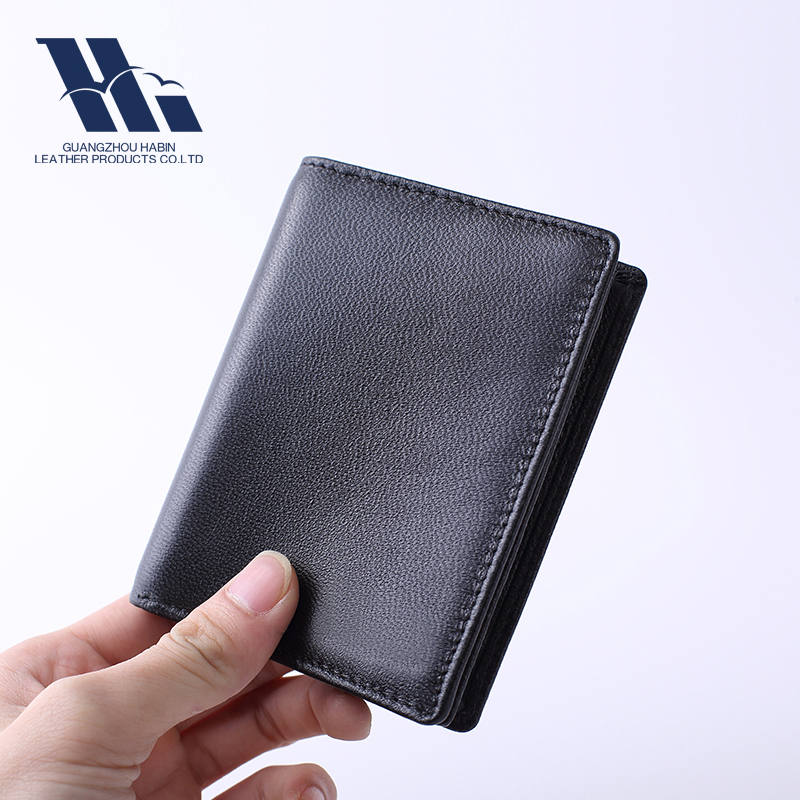 Embossed Soft Top Layer Genuine Leather Men's Wallet