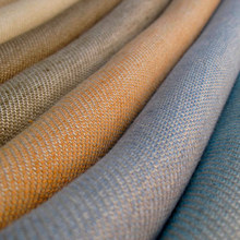 Stock hot selling vintage delave linen fabric for fashion clothing and garments