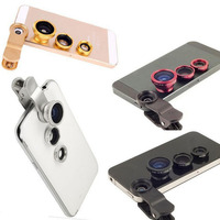 Universal clip fish eye wide angle macro fish eye mobile phone lens 4 in 1, 5 in 1 and 8 in 1