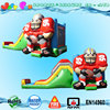 football inflatable combo, 3d football player jump with slide commecial