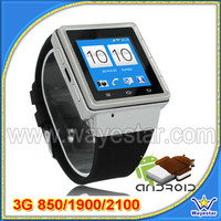 3G Android 4.0 dual core MTK6577 watch phone S6 with wifi gps 2.0 MP camera