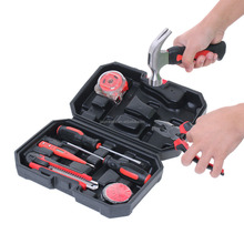 9PC Hand Tool Set Home Repairing Tool Household Hand Tool Kit With Blow Case