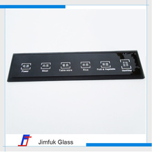 Household appliance tempered glass panels