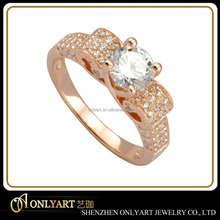 new design low price women silver ring ladies finger rose gold ring silver 925