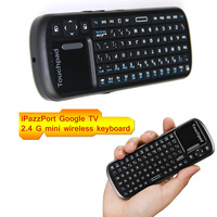 New Hot wireless 2.4G mini Bluetooth keyboard air mouse&keyboard black 82key