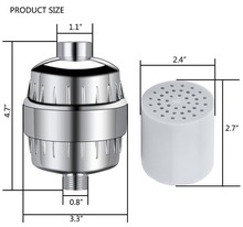 Factory direct sell 0.1um bath shower head filter skin wash filter shower head water purifier with 1 filter and english package