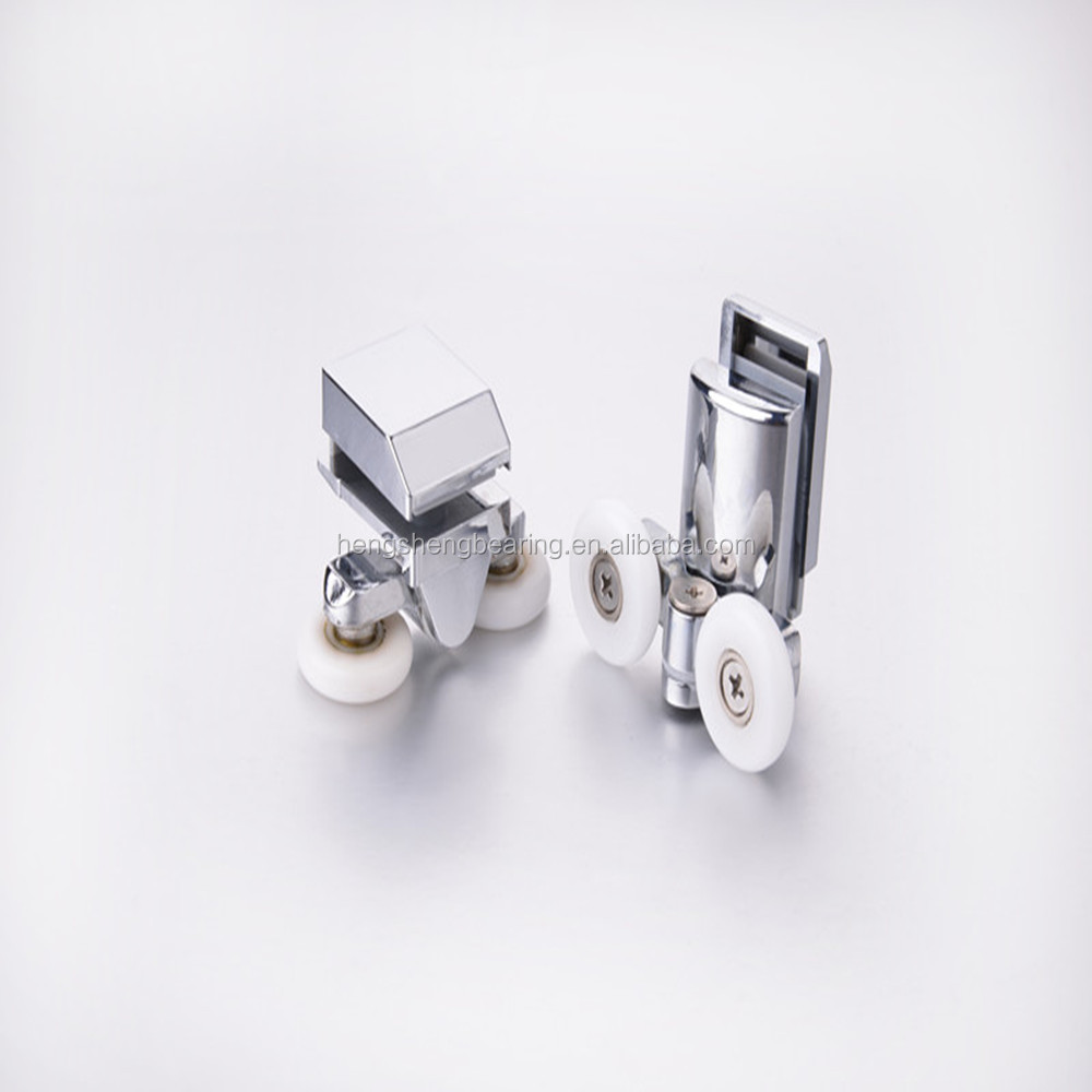 double zinc alloy shower screen door roller bearing wheel