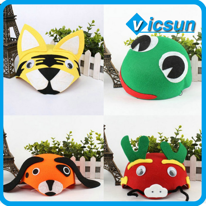 wholesale cartoon animals shape hat tiger dog shape hat festival headwear gifts