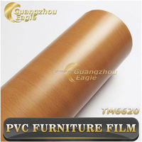 Custom Pvc Vinyl Film,High Gloss Colored Wood Grain Pvc Vinyl Film For Furniture Laminate