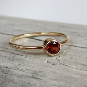 Popular design Garnet ring. Gemstone ring. Gold or silver birthstone ring. January birthstone jewelry LYR0239