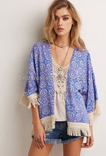 Women Cardigan Autumn Sexy Ladies Tops Floral Lace Crochet Blouses Hollow Out Shirts Knitwear Blusa Plus Size