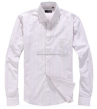 YA-124 Men's regular-fit oxford stripe dress shirt/china shirt