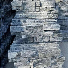 natural schist stone wall cladding panels natural slate brown color natural slate