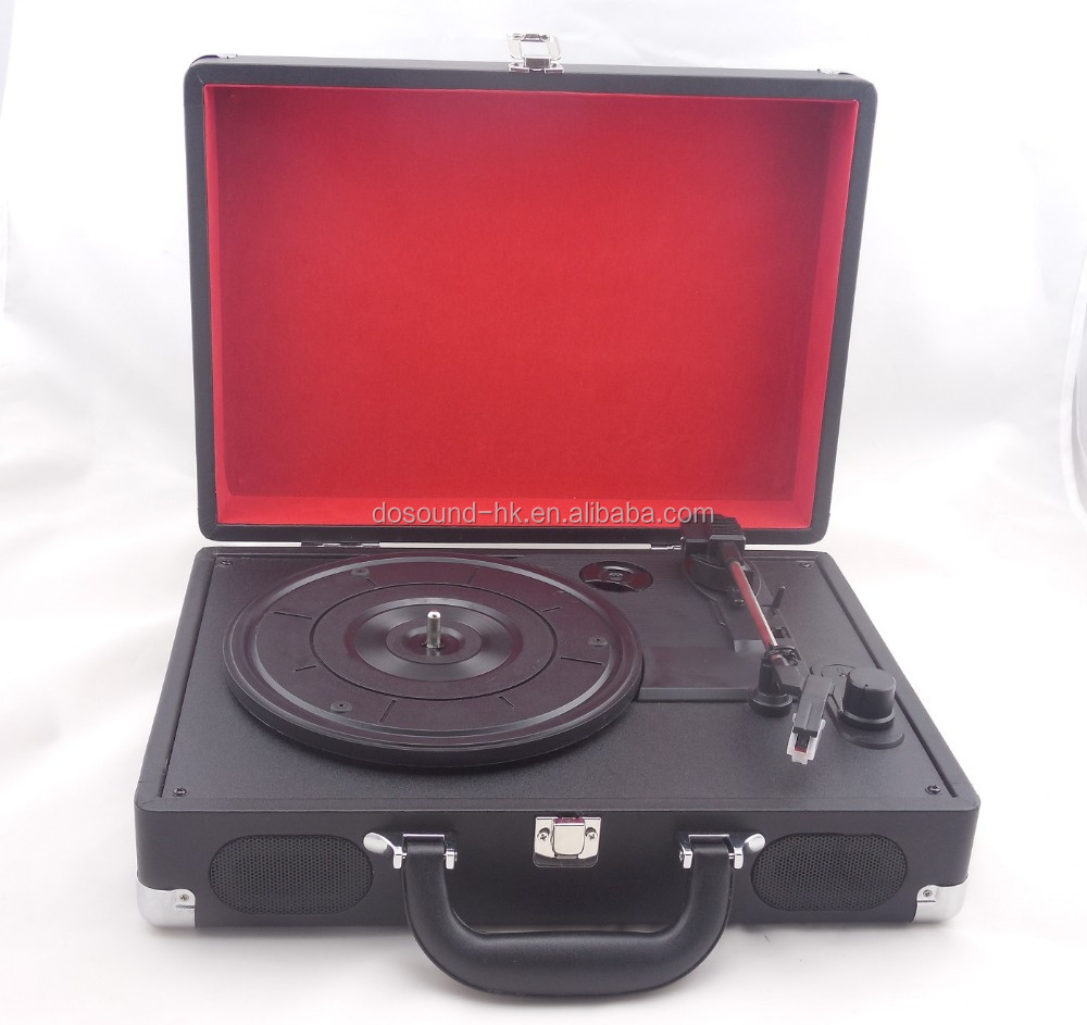 Charming Briefcase Chic!!! Automatic Turntable&Vinyl Record Player with 3 Speed