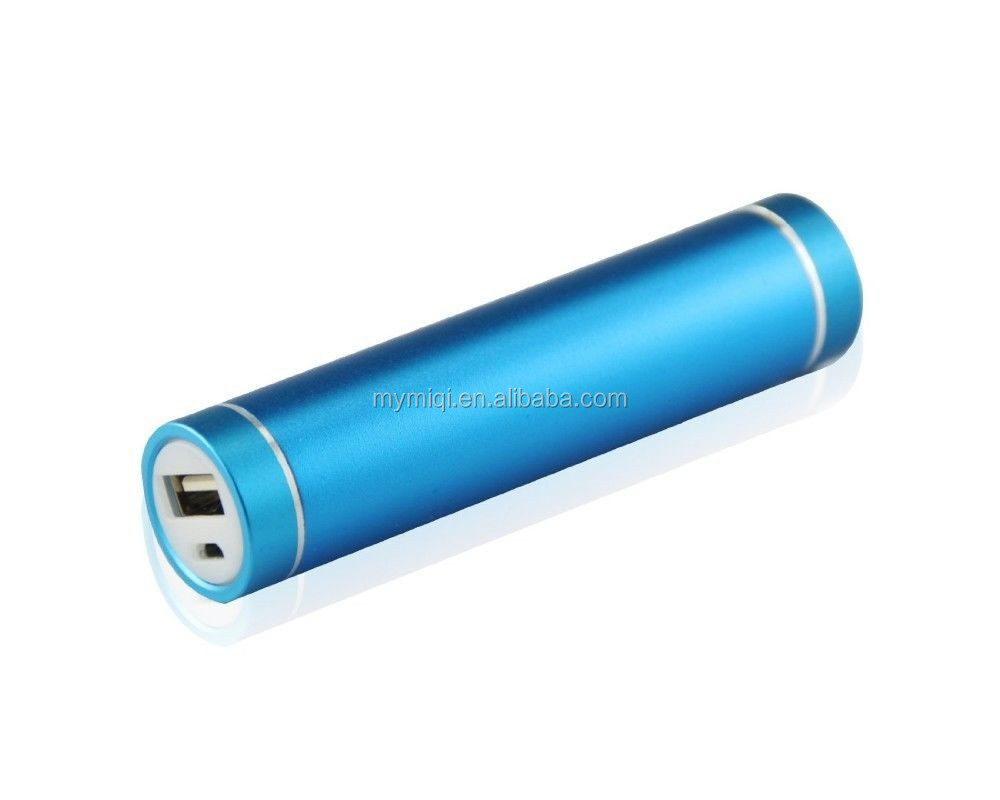 Aluminum metal mini USB 2600mah manual for power bank battery charger