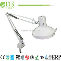 stronger swing arms industry desk lamp with clip, metal handel, energy saving light;metal lamps shade;FCL25W+19WCFL