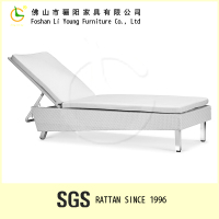 Outside used waterproof and sunproof armless sex massage furniture , excellent quality and utility rattan aluminium beach chair