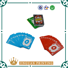 Custom printed full color game playing paper card